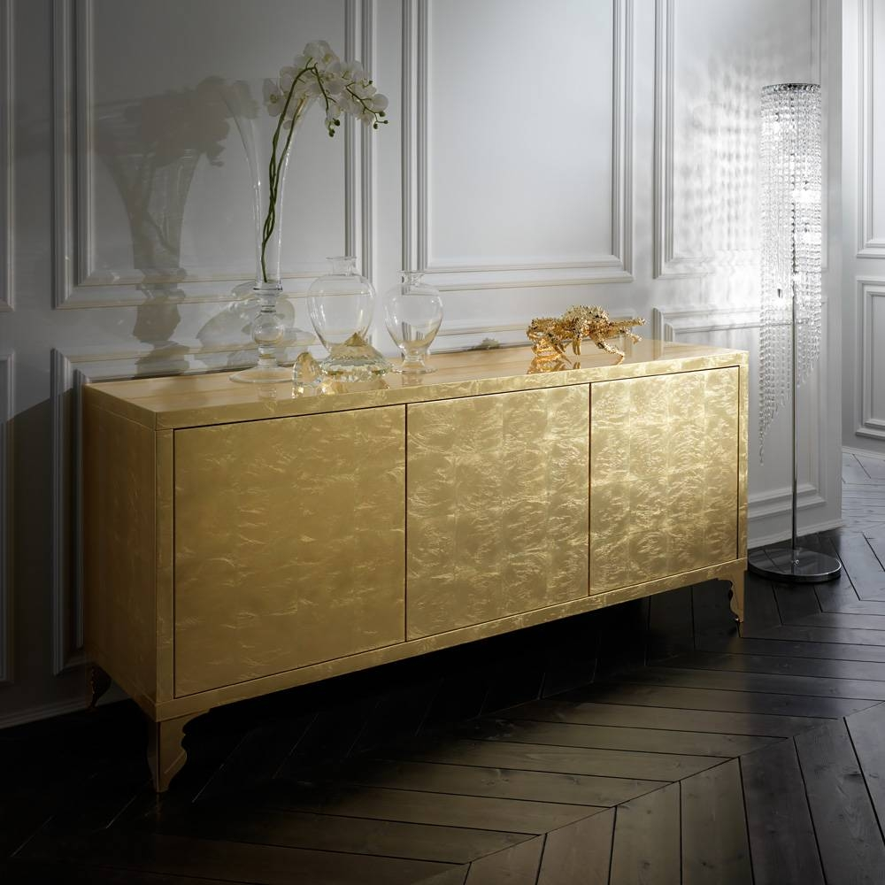 Ideas For Decorate Gold Sideboard — Rocket Uncle Rocket Uncle Intended For Latest Gold Sideboards (#6 of 15)