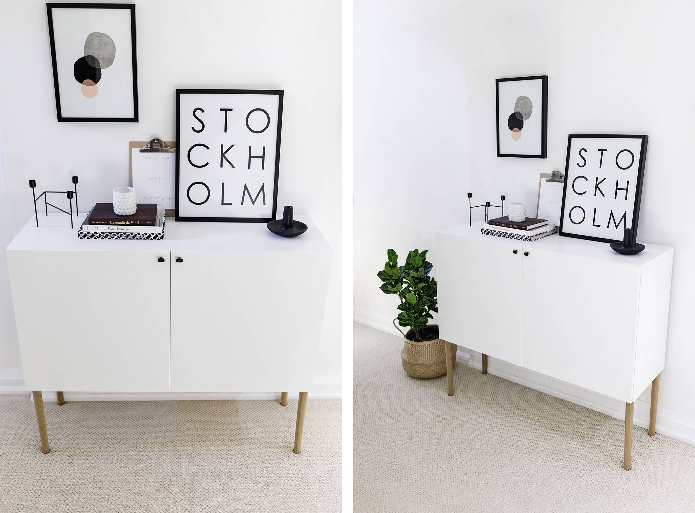 Inspiration about Ikea Besta Hack: Scandinavian Sideboard Cabinet | Happy Grey Lucky Regarding Most Current Ikea Besta Sideboards (#3 of 15)