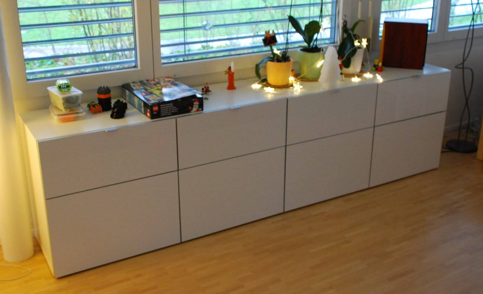 Ikea Besta Storage Combination White Concrete Furniture Ideas Intended For Newest Ikea Besta Sideboards (View 10 of 15)