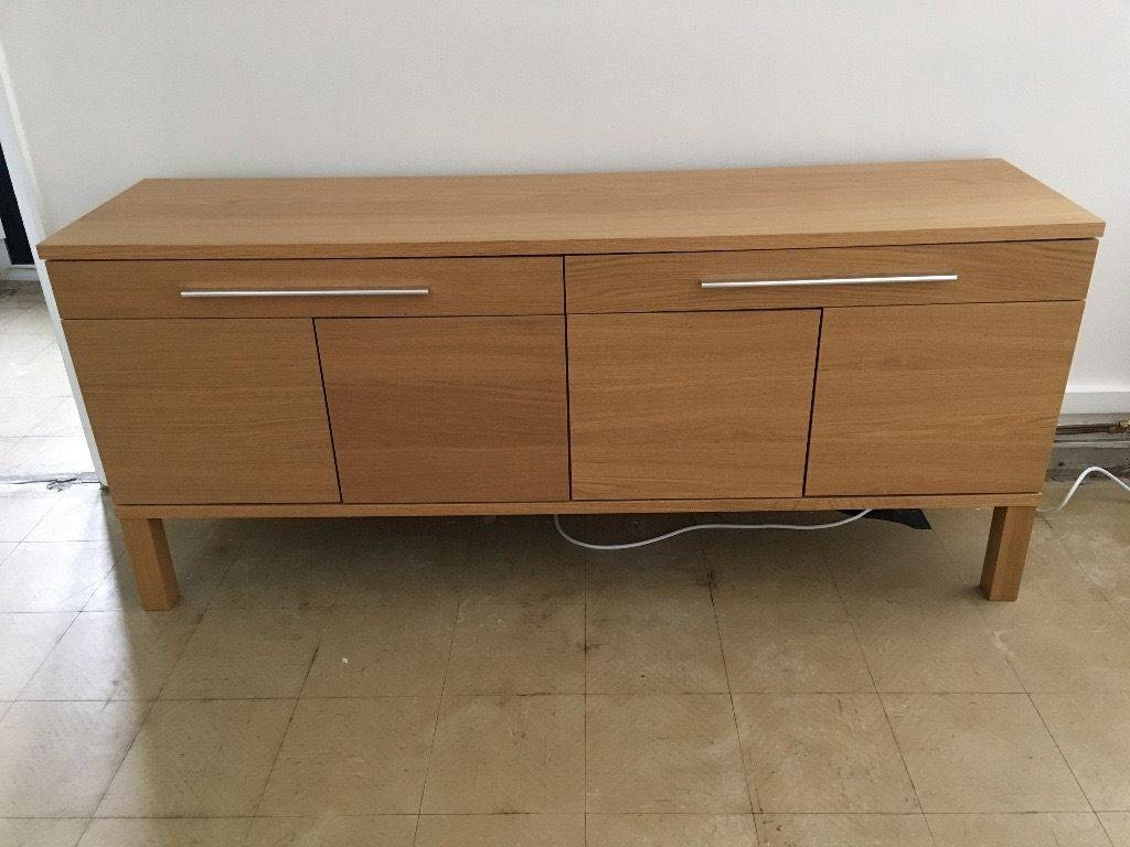 Ikea Bjursta Sideboard, Oak Veneer | In Chester, Cheshire | Gumtree Inside Current Bjursta Sideboards (#7 of 15)