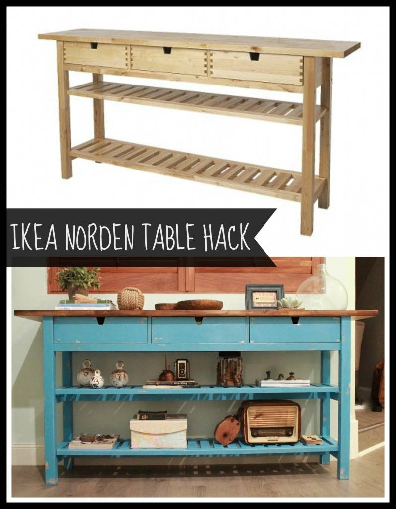 Ikea Norden Sideboard And Repurpose Transform Table For 2017 With Latest Ikea Norden Sideboards (#8 of 15)