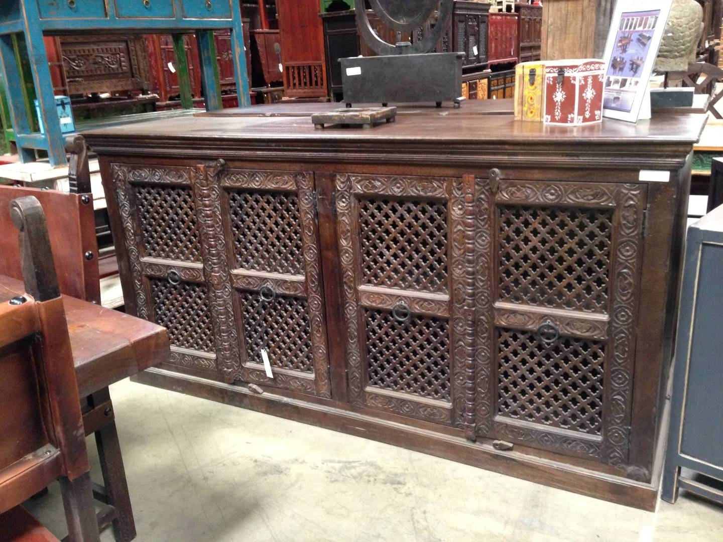 Imported Rustic Sideboards From India, China, Indonesia And Mexico Pertaining To Most Popular Indian Sideboard Furniture (#7 of 15)