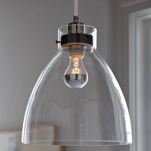 Popular Photo of Industrial Glass Pendant Lights