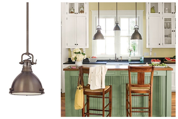 Industrial Pendant Lighting Adds To Coastal Farmhouse Design For Latest Farmhouse Style Pendant Lighting (#6 of 15)