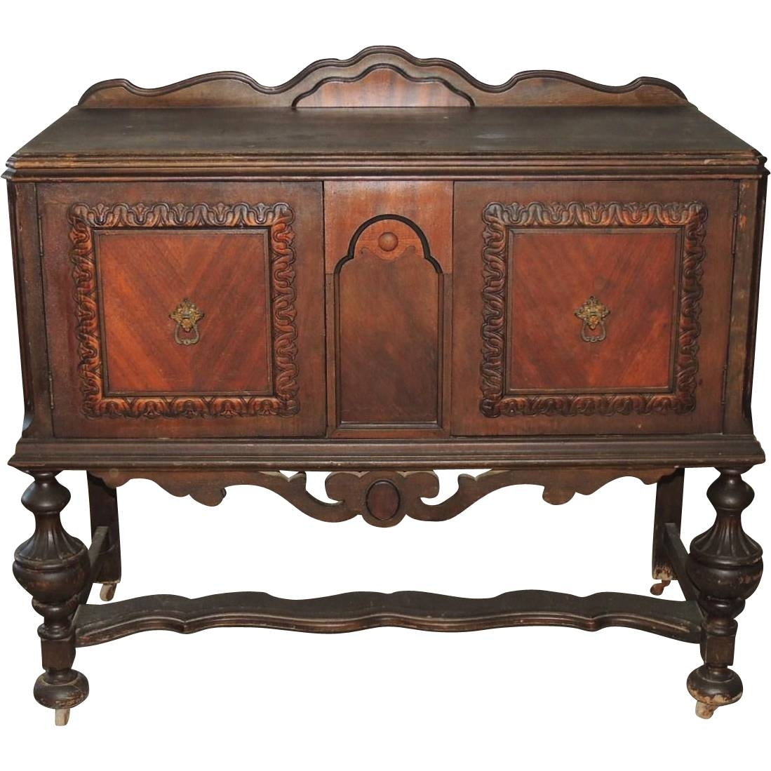 Jacobean Renaissance Revival Walnut Sideboard Buffet Server From For Most Popular Jacobean Sideboards Buffets (View 8 of 15)