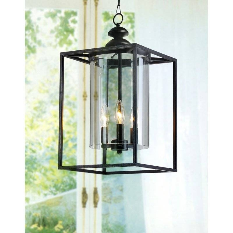 Jojospring La Pedriza 3 Light Foyer Pendant & Reviews | Wayfair With Regard To Current Foyer Pendant Light Fixtures (View 3 of 15)