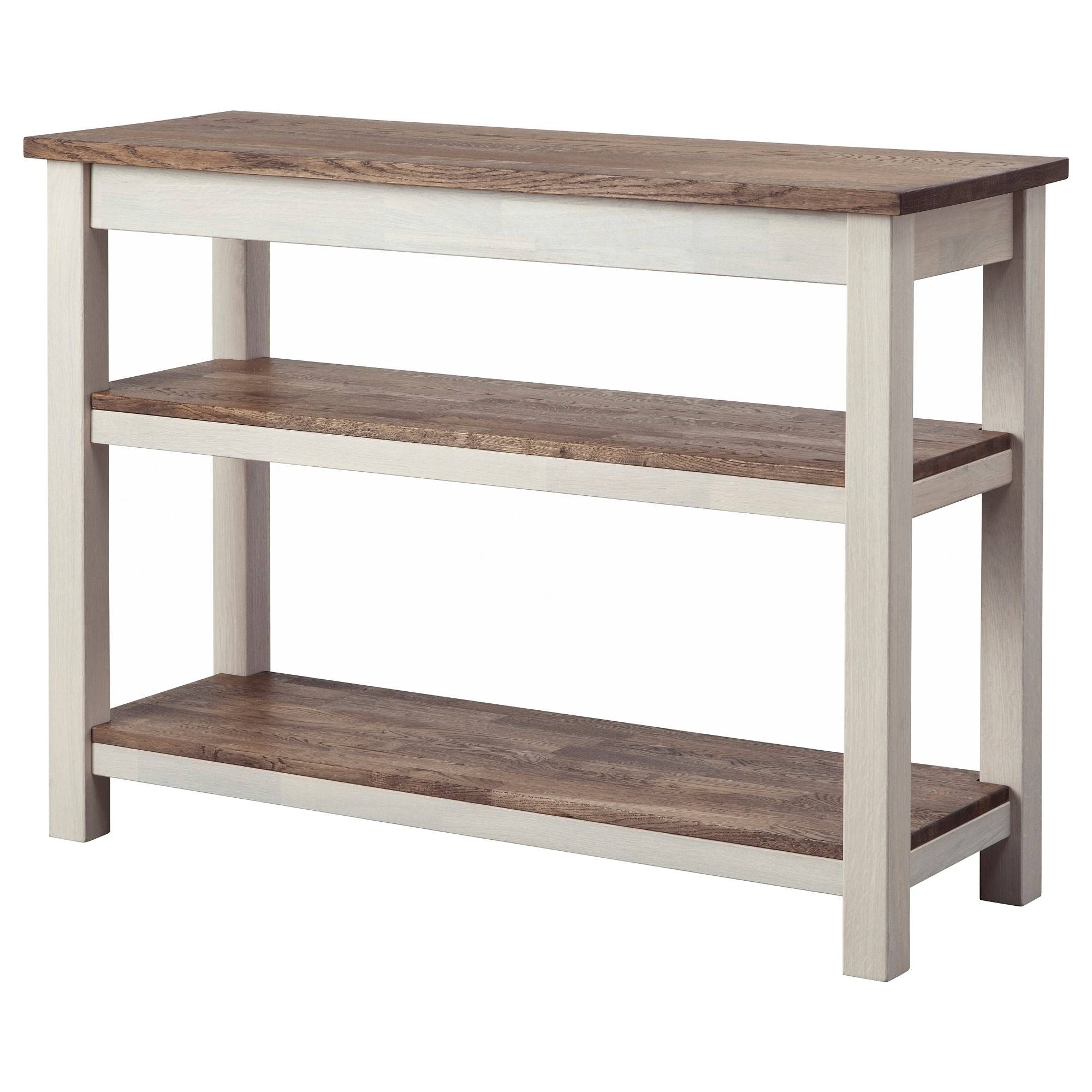 Kejsarkrona Sideboard Oak/white 117x43 Cm – Ikea With Most Up To Date Sideboard Tables (View 3 of 15)