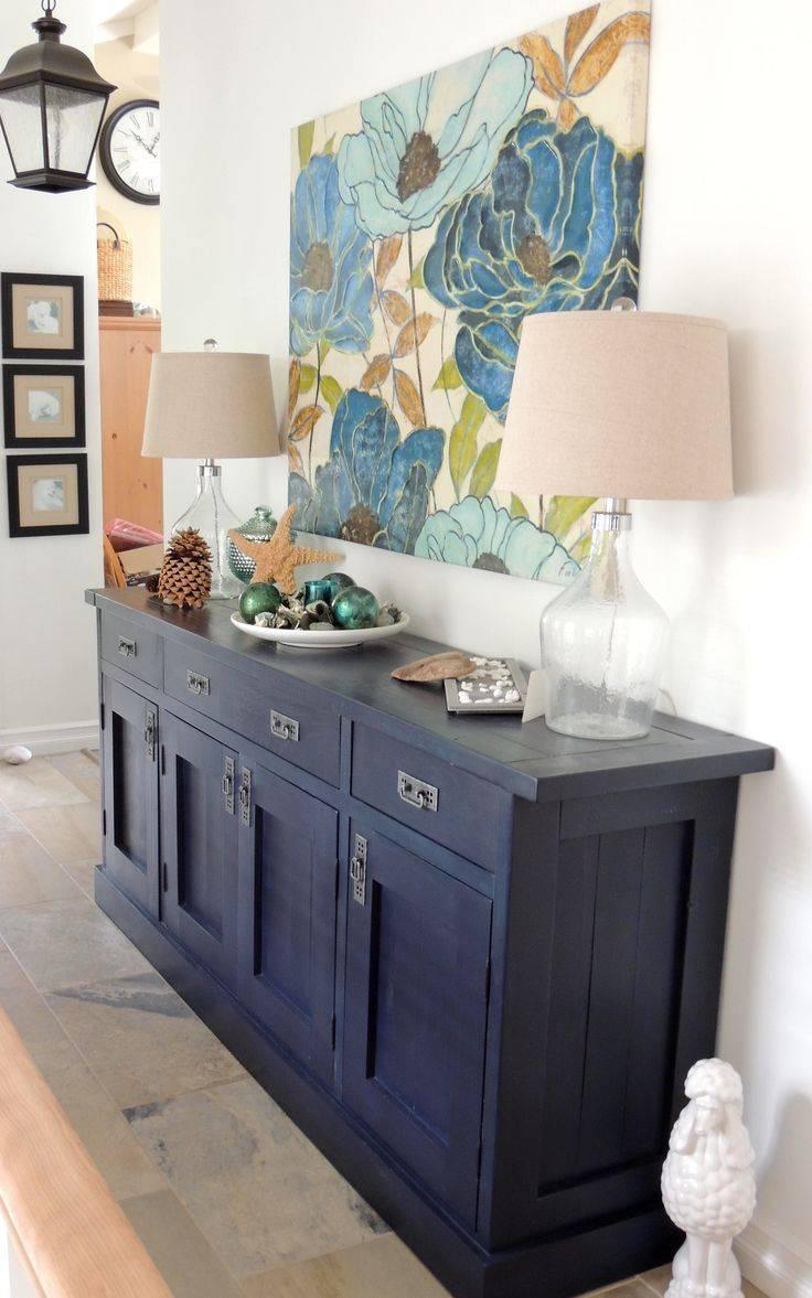 Kitchen Design Ideas : Blue Buffet Cabinet Kitchen Buffet Cabinet Within 2017 Blue Buffet Sideboards (#10 of 15)