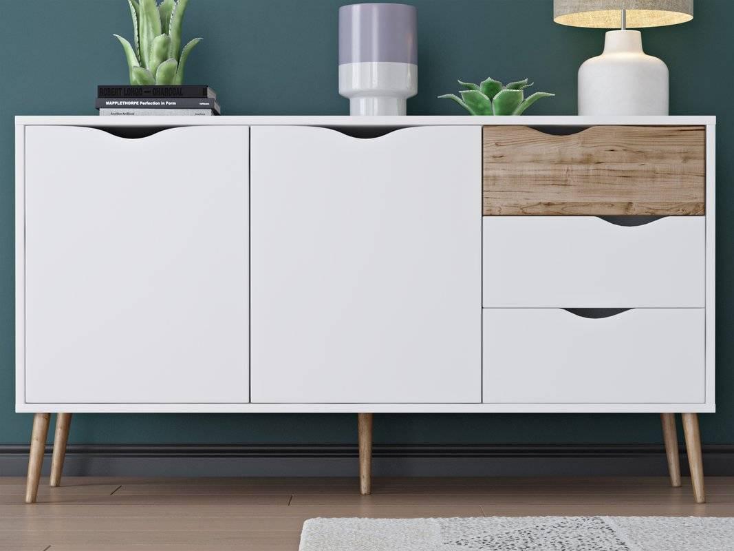 Langley Street Zephyr 5 Drawer Sideboard & Reviews   Wayfair With Regard To 2017 Sideboard Furniture (#6 of 15)
