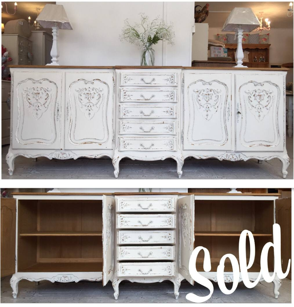 Large Breakfront Shabby Chic Buffet Unit – Home Sweet Homehome For Most Up To Date Shabby Chic Sideboards (#7 of 15)