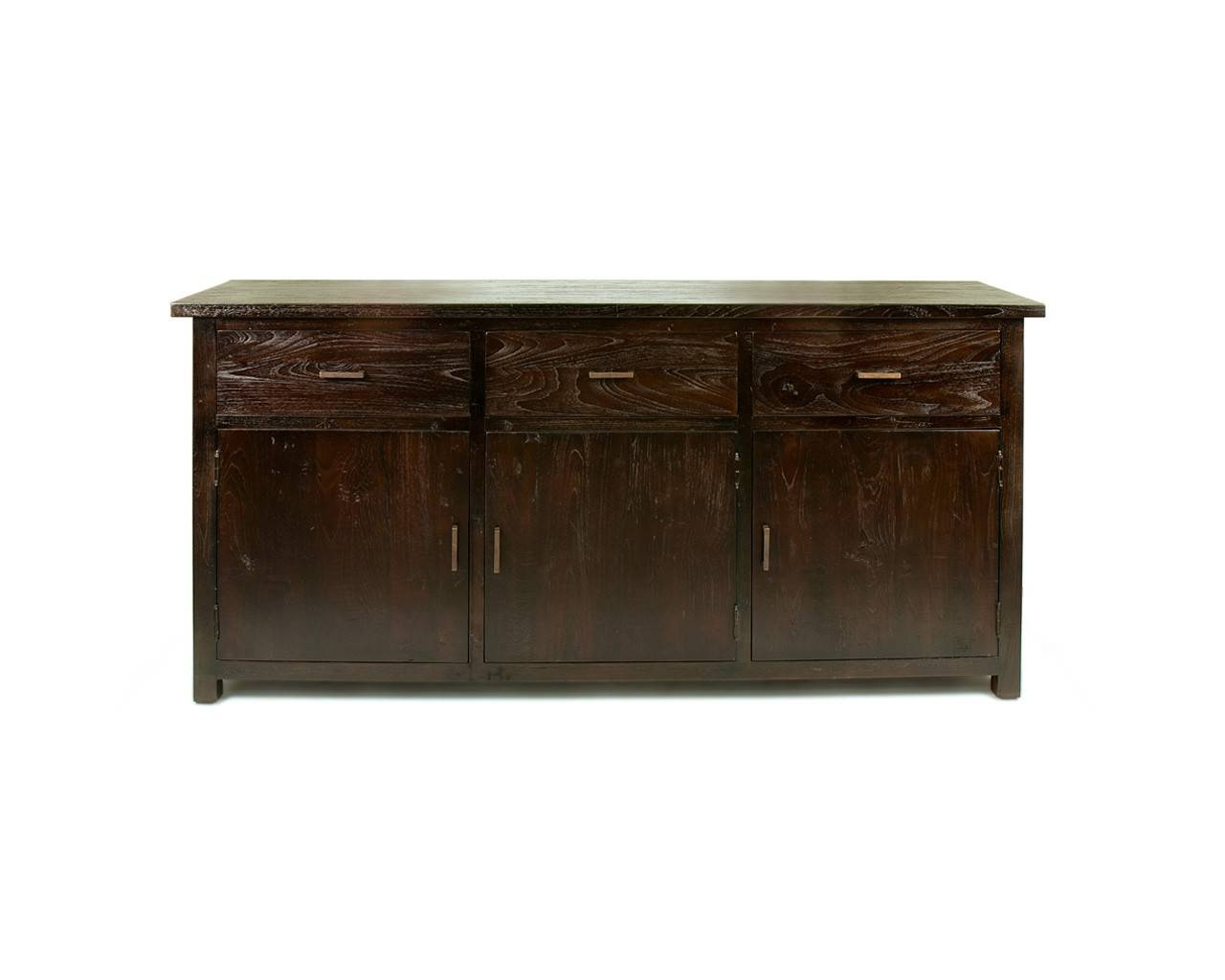 Large Dark Teak Sideboard – Reclaimed Wood Contemporary Furniture Pertaining To Current Dark Wood Sideboards (#5 of 15)