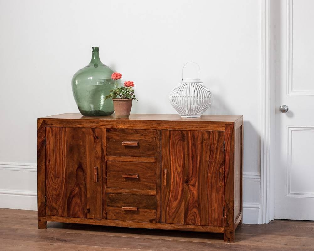 Large Solid Wood Sideboard | Casa Bella Sheesham Indian Furniture Within Best And Newest Indian Sideboard Furniture (#11 of 15)