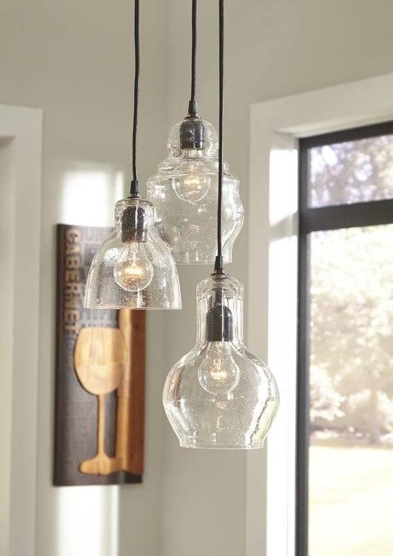 Laurel Foundry Modern Farmhouse Auguste 3 Light Kitchen Island In 2018 3 Light Pendants For Island Kitchen Lighting (View 12 of 15)