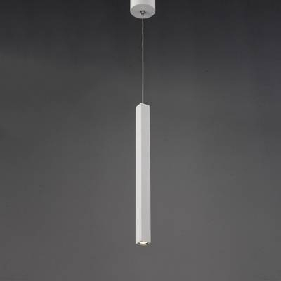 Long Cylinder Pendant Light White 11'' – Beautifulhalo Within 2018 Cylinder Pendant Lights (View 7 of 15)