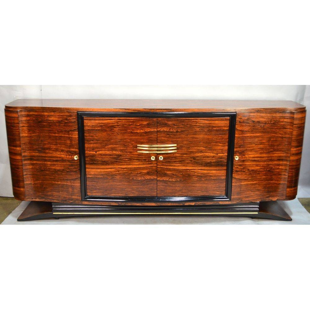 Macassar French Art Deco Sideboard Bronze Birds Eye Maple, Ca With Most Current Art Deco Sideboards (#14 of 15)