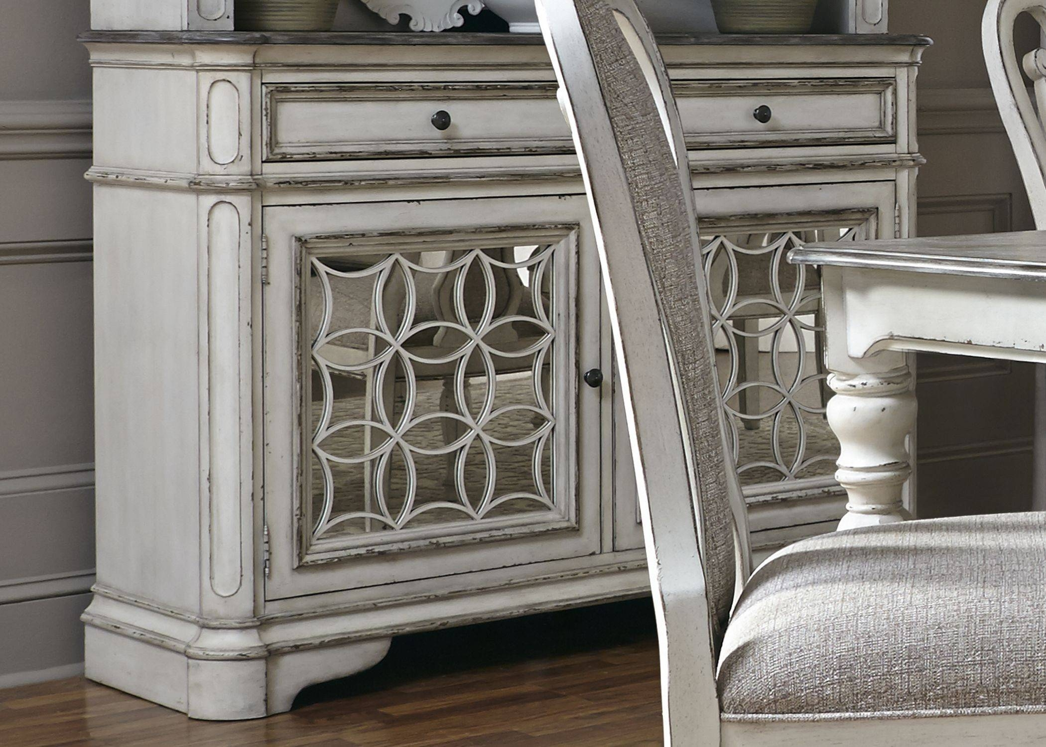Magnolia Manor Antique White Buffet From Liberty | Coleman Furniture Within 2017 Antique White Sideboards (#8 of 15)