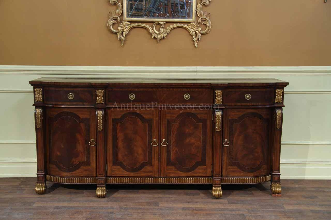 Mahogany Sideboard With Gold Leaf Accents For The Dining Room For 2018 Gold Sideboards (#9 of 15)