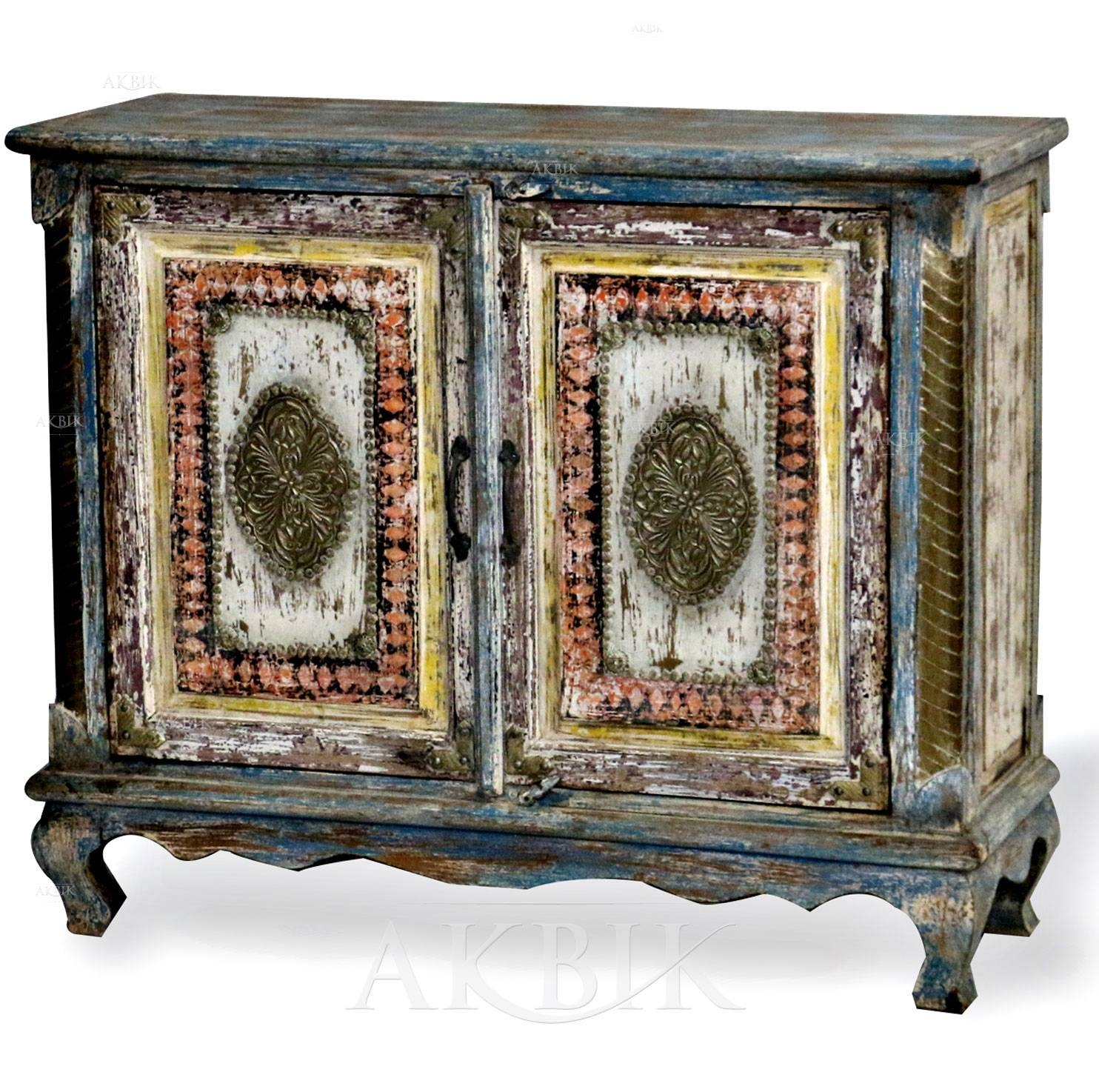 Mediterranean, Levantine & Syrian Furniture Inlaid With Mother Of Inside 2017 Sideboard Cabinets (#10 of 15)