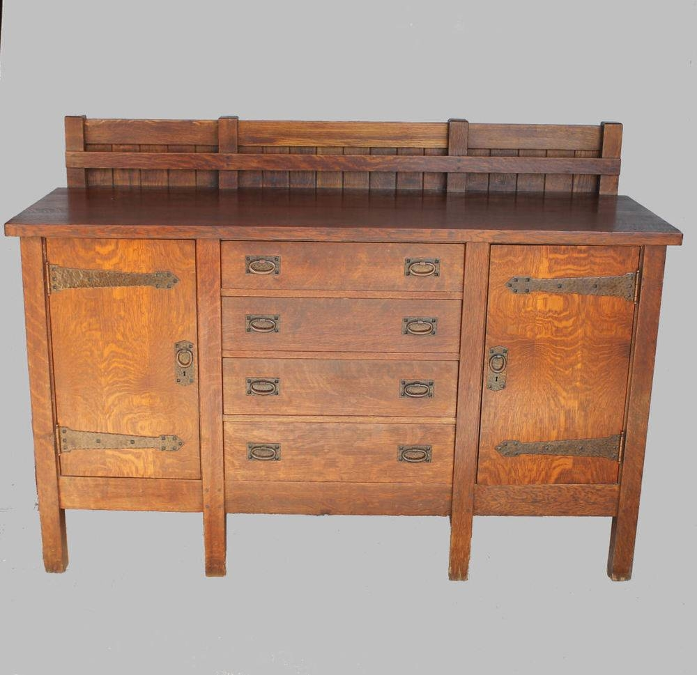 Mission Sideboard | Ebay Within Most Up To Date Antique Oak Sideboards (#8 of 15)
