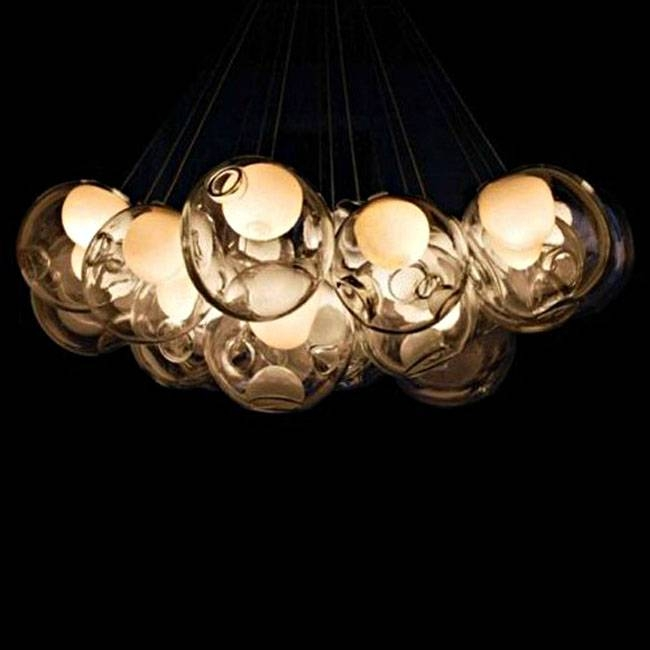 Modern Blown Bubbles Pendant Lighting 10534 : Free Ship! Browse Intended For Recent Bubble Pendant Light Fixtures (#6 of 15)