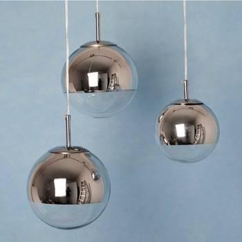Modern Chrome Glass Ball Pendant Lights, View Glass Ball Pendant Regarding Most Up To Date Glass Ball Pendant Lights (#9 of 15)