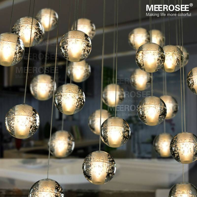 Modern Decoration Led Crystal Bubbles Ball Light Dinning Pendant Within 2017 Bubble Pendant Light Fixtures (#8 of 15)