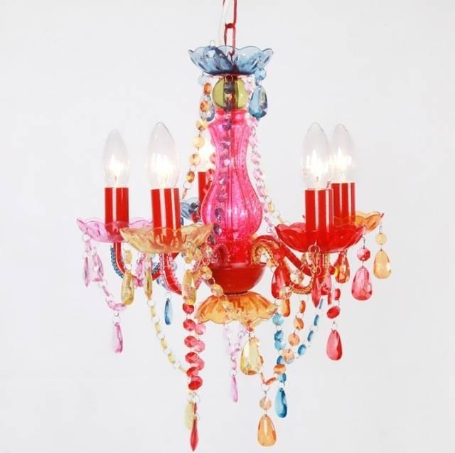 Modern Fashion Multicolor/pink Chandelier Kids Lighting For In Current Kids Room Pendant Lights (#13 of 15)