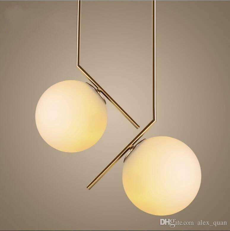 Modern Glass Ball Pendant Lamp Minimalist Living Room Bedroom Regarding Latest Glass Ball Pendant Lights (#10 of 15)