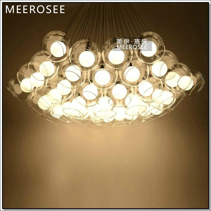 Modern Hand Blown Glass Pendant Lights Replica Lamp Md3231 L19 In Recent Glass Bubble Pendant Lights (#9 of 15)