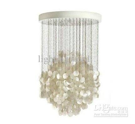 Modern High Quality Natural Shell Chandelier Lobby Bedroom Living Throughout Most Popular Shell Pendant Lights (#7 of 15)
