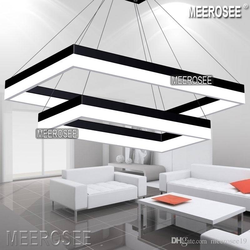 Modern Led Pendant Light Modern Rectangle Black Hanging Pendant Within Most Recent Rectangular Pendant Lights (#10 of 15)