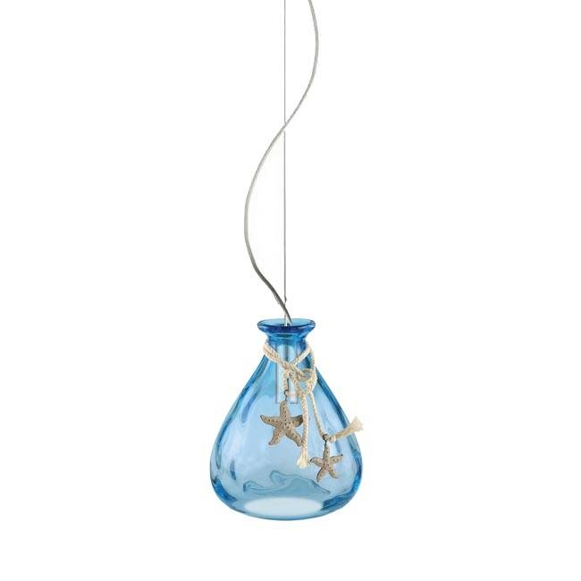 Modern Sea Star Glass Pendant Lighting 12164 : Free Ship! Browse For Most Recent Sea Glass Pendant Lights (#11 of 15)