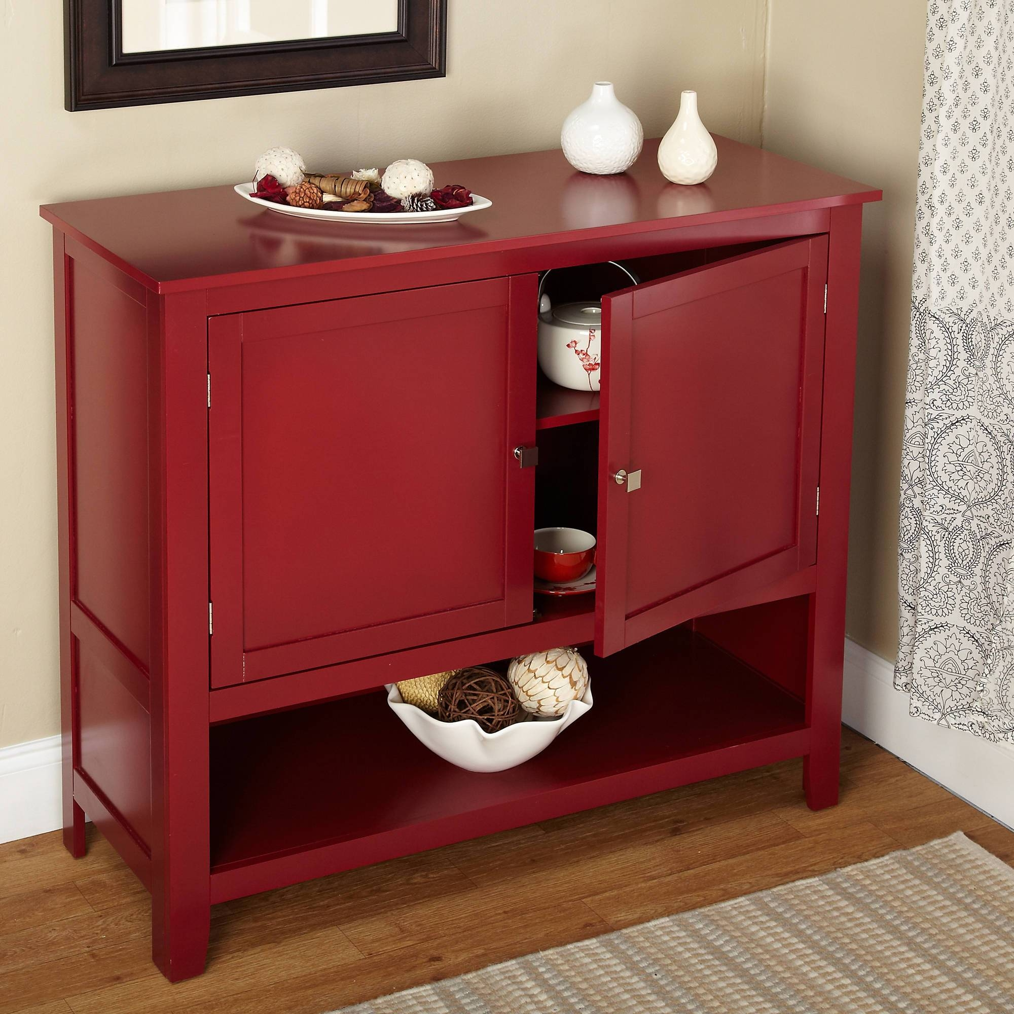Montego Buffet, Multiple Colors – Walmart Within Current Red Buffet Sideboards (#3 of 15)