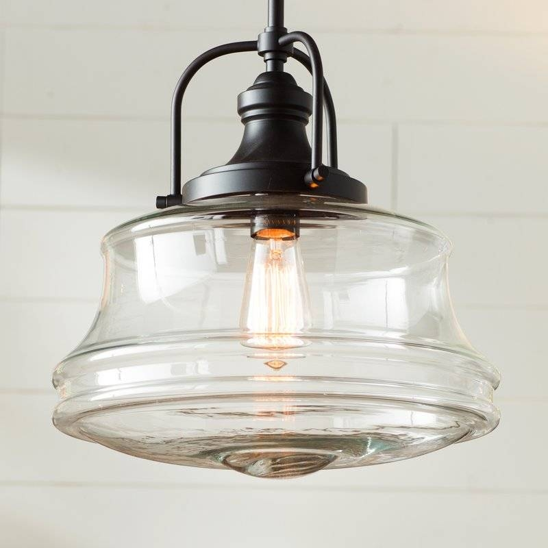Nadine 1 Light Schoolhouse Pendant & Reviews | Birch Lane With Regard To Most Popular Schoolhouse Pendant Lighting (#6 of 15)