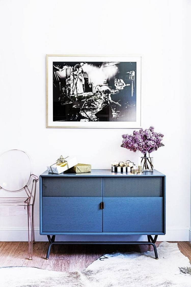 Navy Blue Sideboards And Cabinets For A Modern Home With Regard To Most Recently Released Blue Sideboards (#5 of 15)