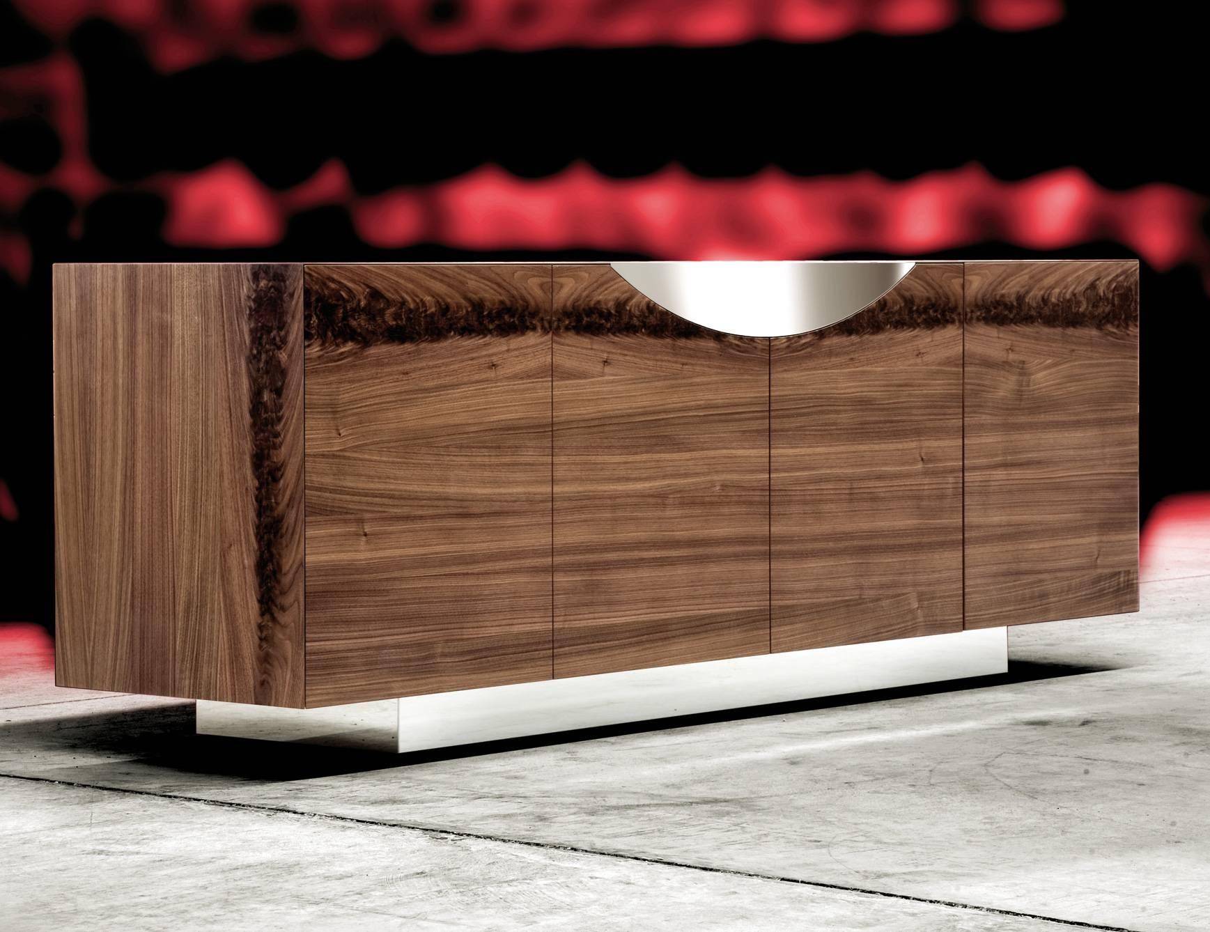 Nella Vetrina Costantini Pietro Edge 9232 Modern Walnut Sideboard Throughout Best And Newest Eclectic Sideboards (#8 of 15)