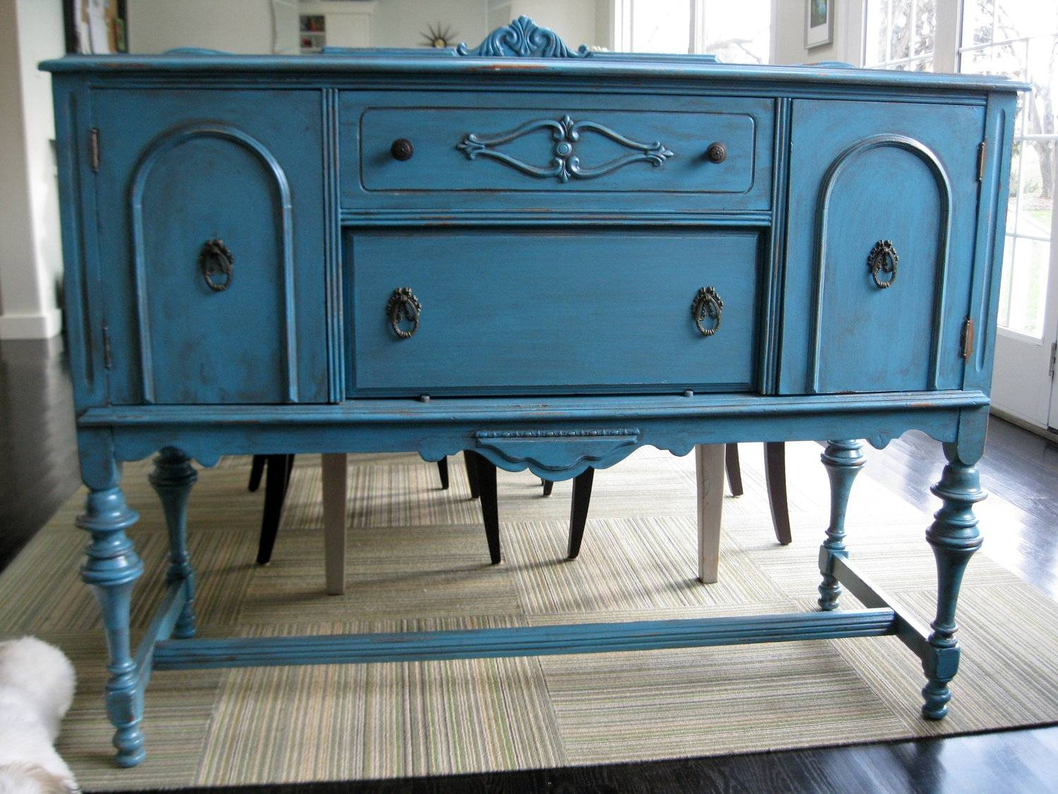 New Ideas Diy Blue Sideboard | Wood Furniture In Most Popular Blue Buffet Sideboards (#11 of 15)
