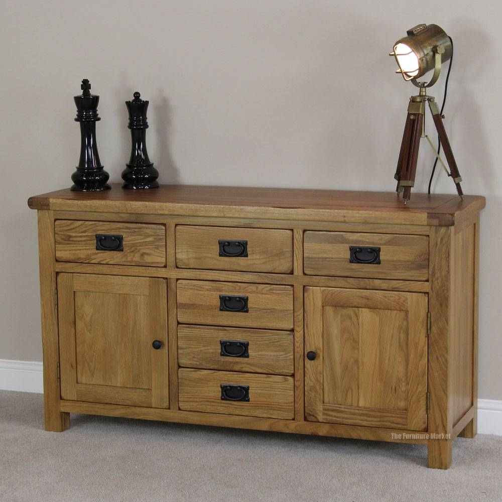 New Rustic Sideboard : Ideas Decor Rustic Sideboard – Wood Furniture With Most Recent Rustic Oak Large Sideboards (#10 of 15)