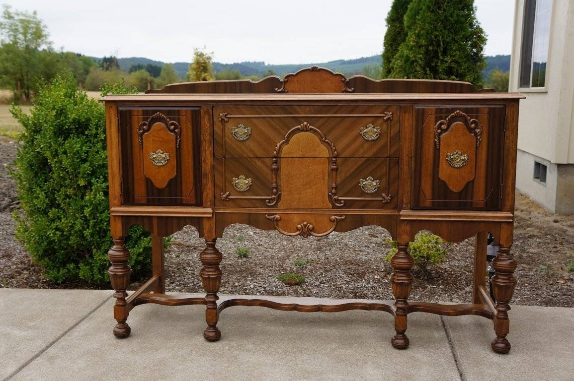 Nice Design Antique Sideboard Buffet — All Furniture : Antique Within Recent Antique Sideboard Buffets (#10 of 15)