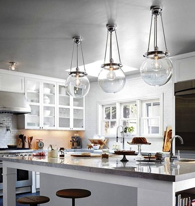 Nice Glass Pendant Lights For Kitchen Island Pendant Lighting For With Most Recently Released Glass Kitchen Pendant Lights (#9 of 15)