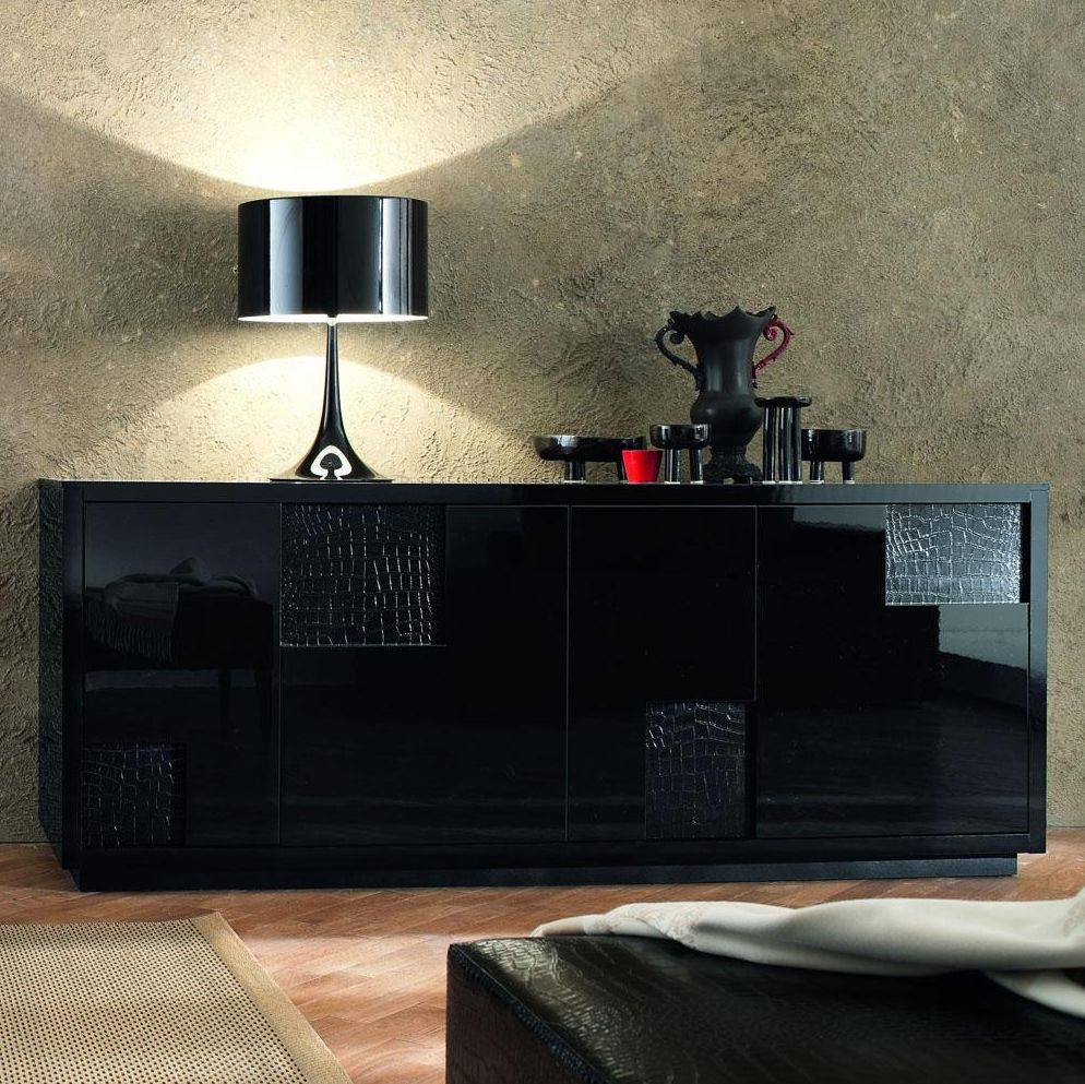 Nightfly Black Buffet Sideboard — New Decoration : Romantic Dining Pertaining To 2018 Black Buffet Sideboards (#9 of 15)