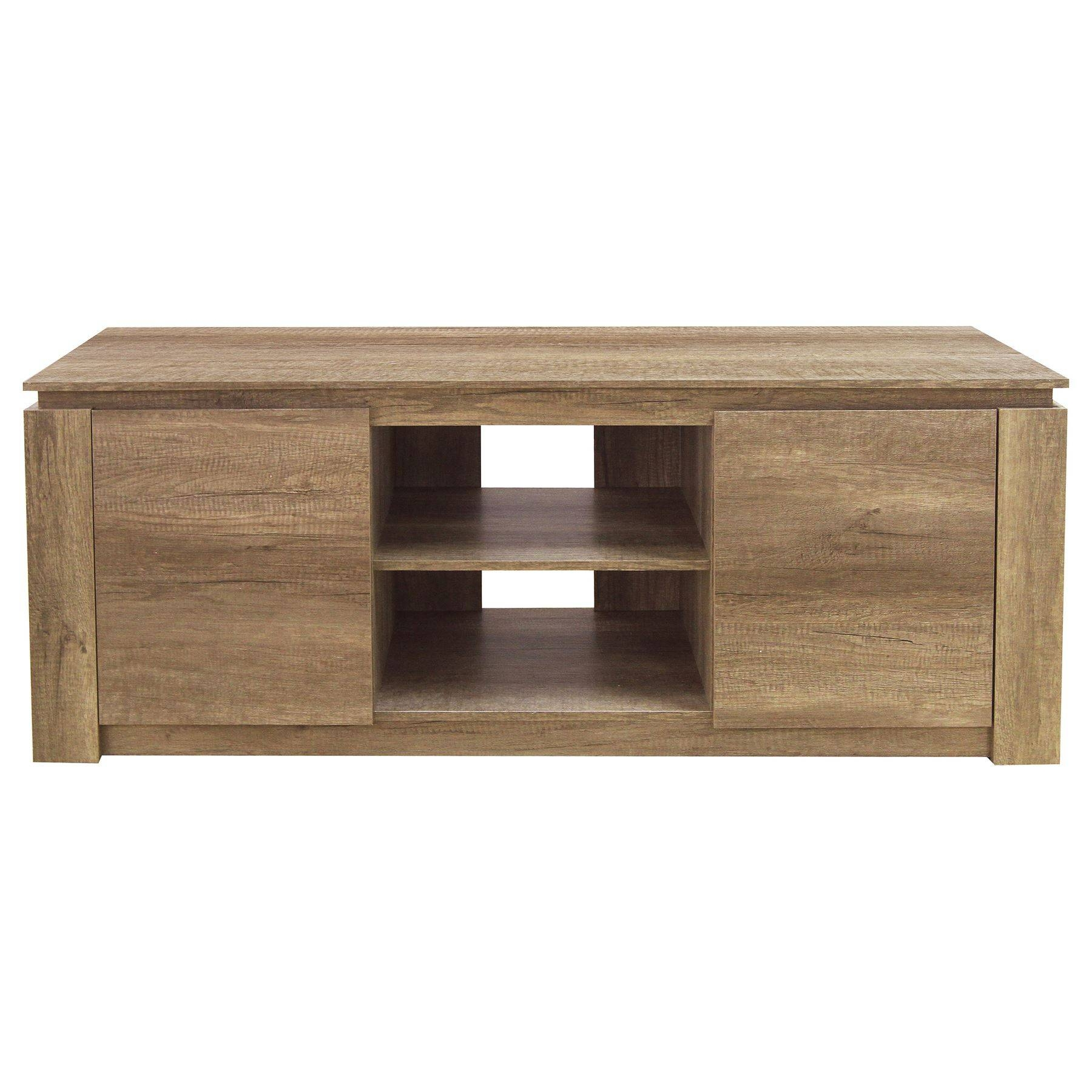 Oak Bookshelf Bookside Tv Unit Stand Coffee Lamp Table Sideboard With Most Current Sideboards And Tv Units (#8 of 15)
