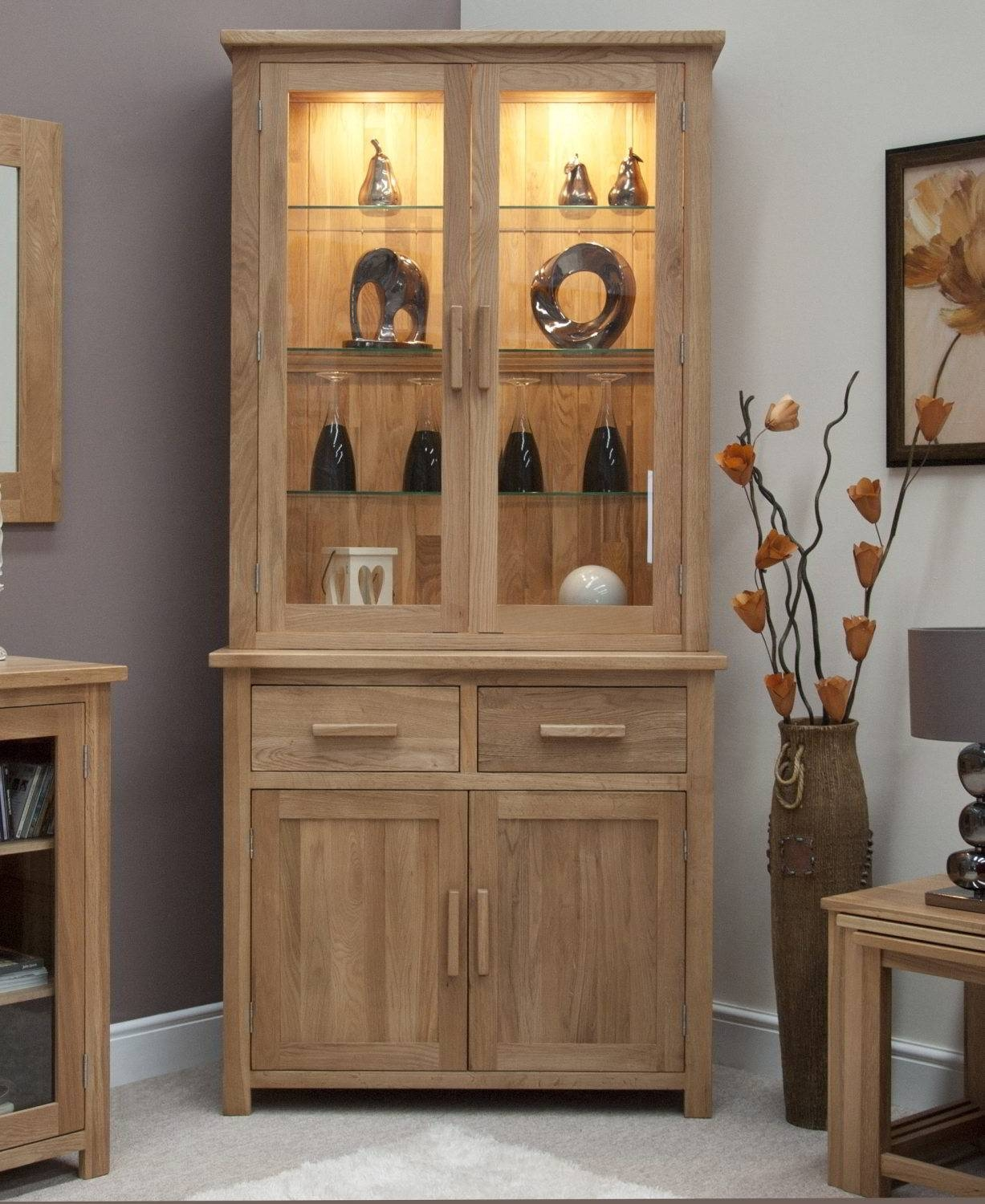 Oak Dining Room Display Cabinets » Dining Room Decor Ideas And Regarding Current Display Sideboards (#8 of 15)