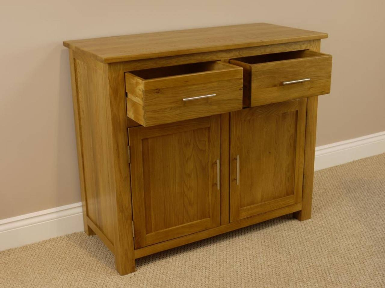 Oak Sideboard Drawers : Classy Oak Sideboard Furniture – Wood With Most Up To Date Solid Oak Small Sideboards (View 8 of 15)