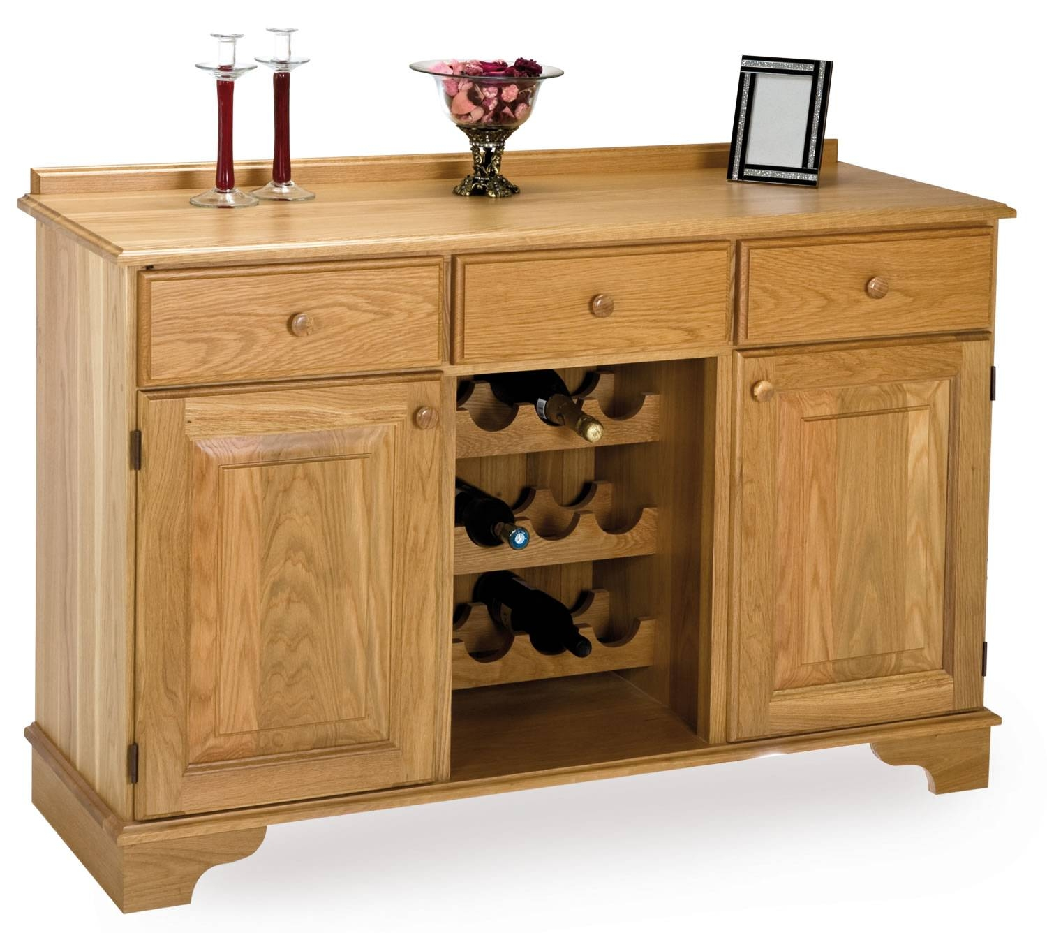 Oak Wine Rack Sideboard In Most Recently Released Sideboards With Wine Rack (#10 of 15)