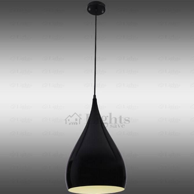 One Light Black Aluminum Simple Modern Mini Pendant Lights Intended For Newest Black Mini Pendant Lights (#13 of 15)