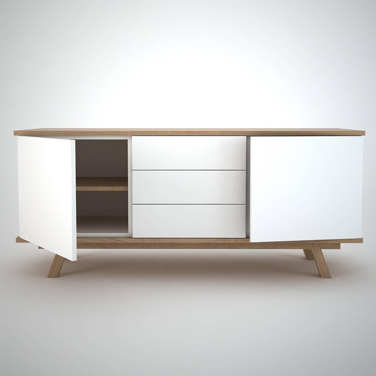 Ottawa Sideboard (2+3) White – Join Furniture Inside 2018 Sideboard Furniture (#8 of 15)