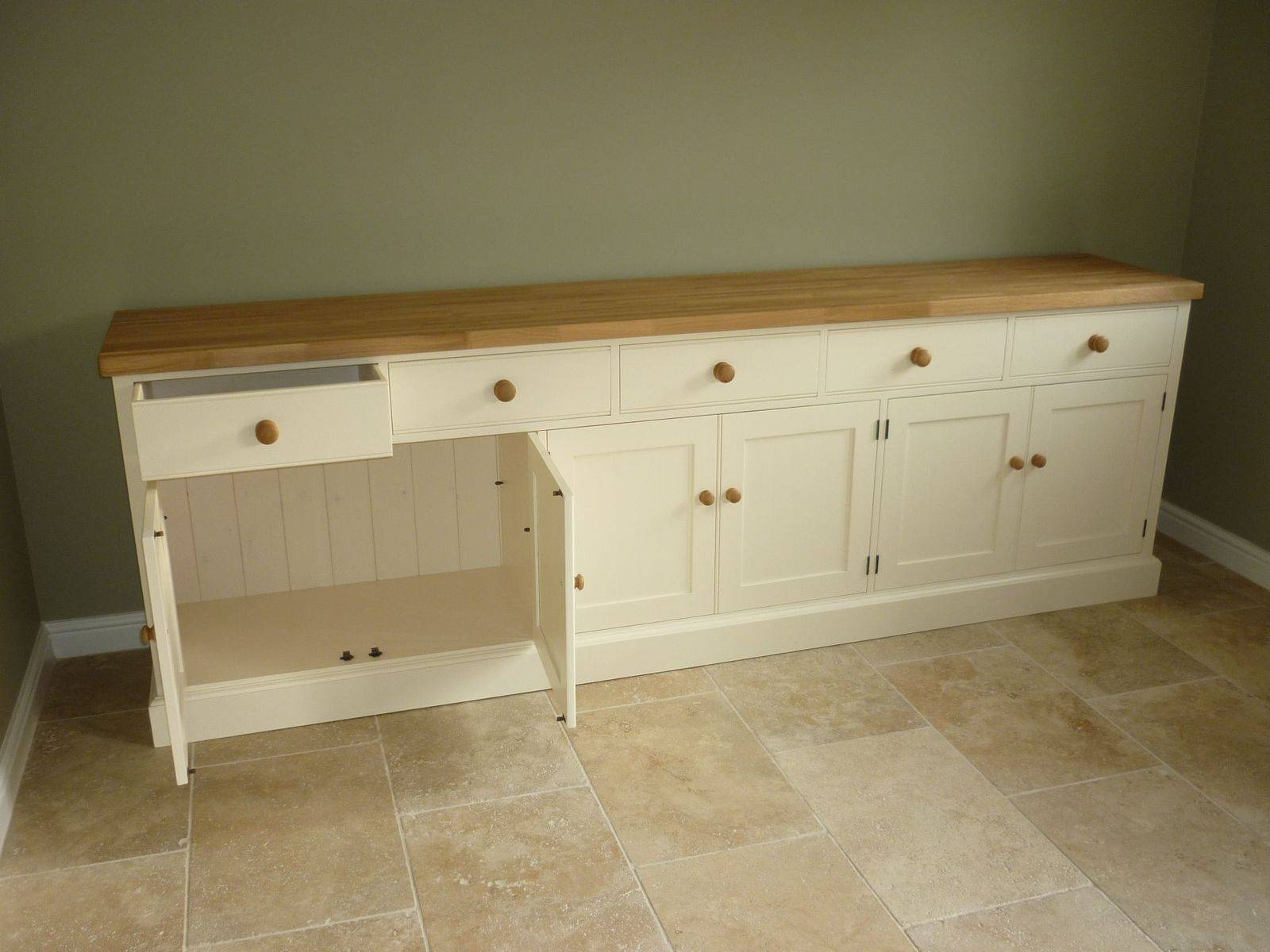 Painted Cotswold Sideboard – Solid Wood & Painted Made To Measure Regarding Recent Bespoke Sideboards (#10 of 15)