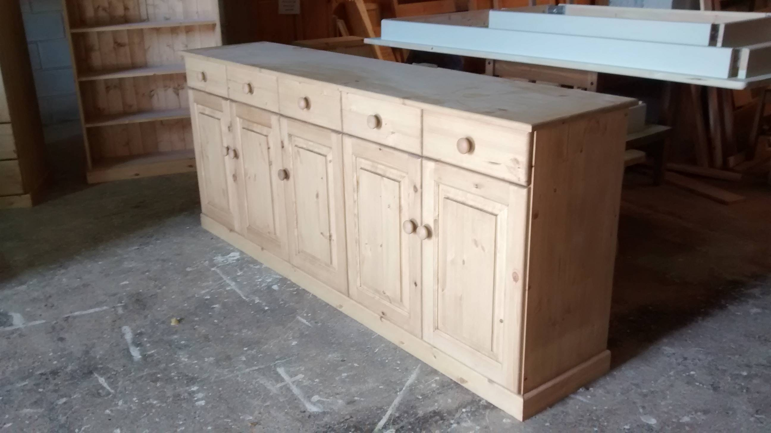 Painted Pine Dresser   Pine Welsh Dressers Throughout Current Pine Sideboards (#6 of 15)