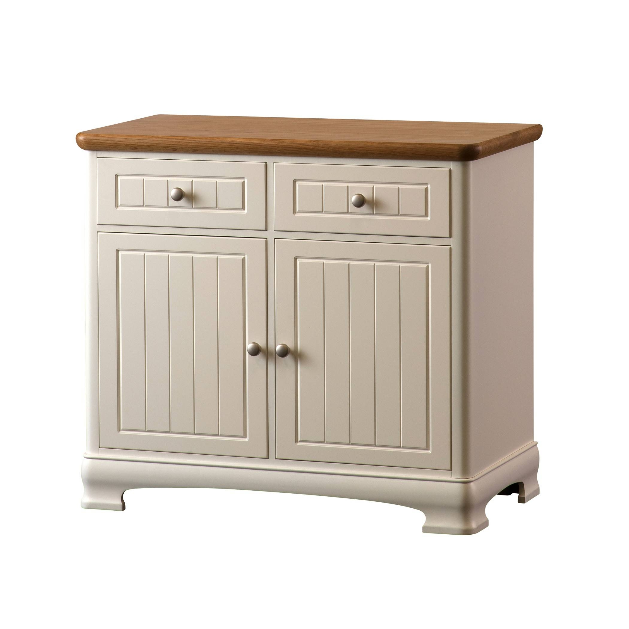 Painted Small Two Door Sideboard With Two Drawers | Gola Furniture Uk With Latest Small Cream Sideboards (#9 of 15)